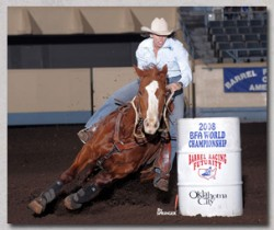 Always riding her horses feet.