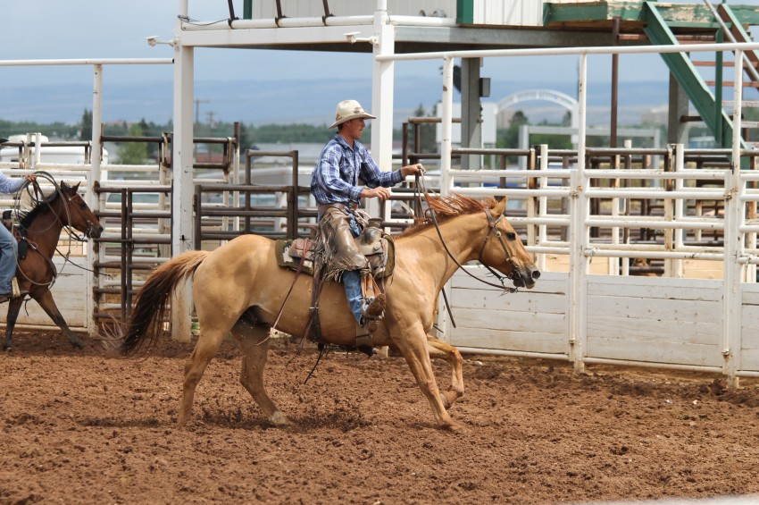 Lane Stevenson, at a ranch rodeo in Laramie, WY.