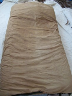 Cowboy bed roll and sleeping bag