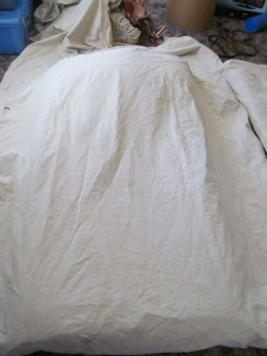 Cowboy bed roll and tarp
