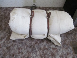 Cowboy bed roll and straps