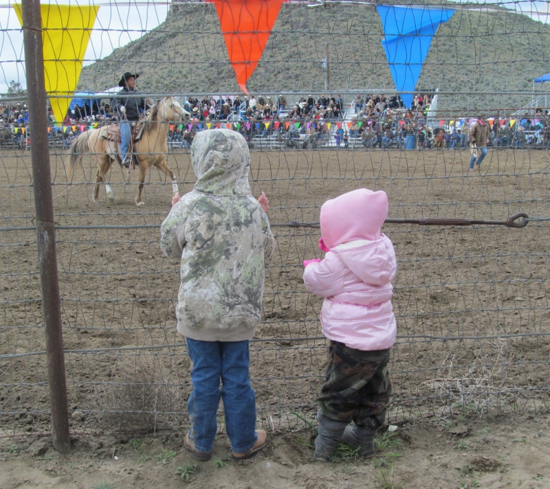 Kids at rodeo