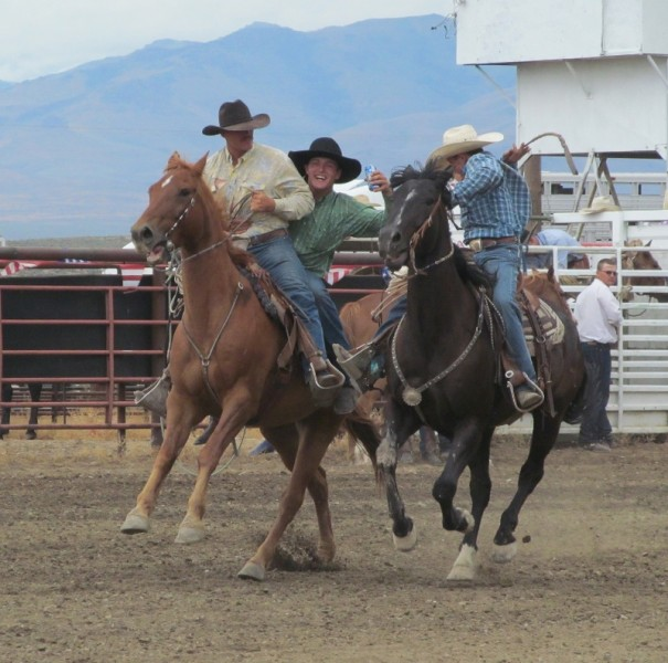 Cowboys in rodeo