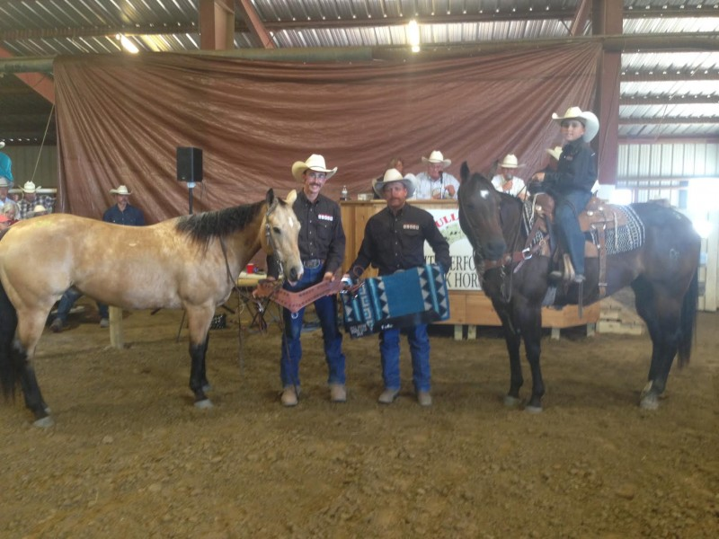 Lot #28 (buckskin) took Reserve Champion Honors, and Lot # 3 was the Ranch Rodeo Champion.