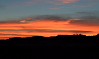 Sunrise in Montana is a sight to behold.