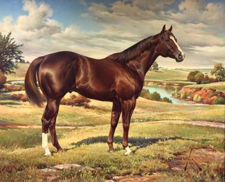 Kid Meyers as painted by the great Orren Mixer, portrays the quality conformation I like to see in a horse. Mixer also painted the Ideal Quarter Horse that is used by the AQHA to this day.