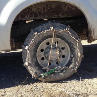 DIY Tire Chains, Ranch Pickup