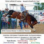 Casper Ranch Rodeo Sept. 28 Helps Pedro Mtn. Fire Victims